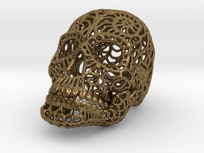 Nautilus Sugar Skull - SMALL in Natural Bronze