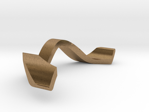 RING WAVE ADJUSTABLE INNER PART in Natural Brass