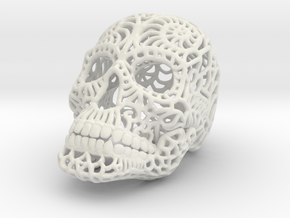 Nautilus Sugar Skull - SMALL in White Strong & Flexible