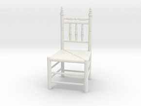 1:24 Pilgrim's Chair in White Natural Versatile Plastic
