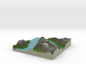 Terrafab generated model Tue Jan 14 2014 18:24:23  in Full Color Sandstone