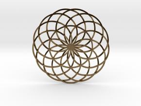 Moon Flower in Natural Bronze