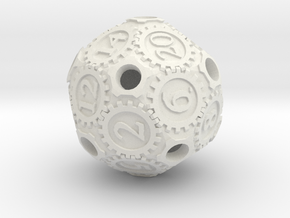 D20Gearpunk in White Strong & Flexible