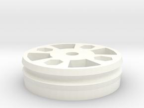 MoirePattern Pulley in White Processed Versatile Plastic