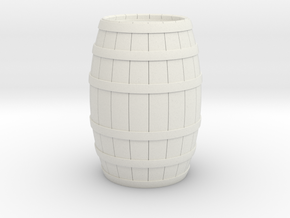 Wood Barrel in White Natural Versatile Plastic