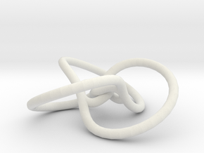 23torusknotandTInv: trefoil and trefoil in White Natural Versatile Plastic