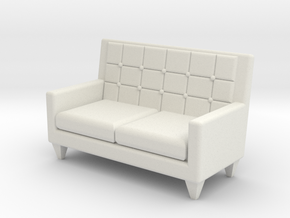 1:24 Sixties Loveseat in White Natural Versatile Plastic