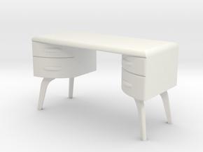 1:24 Moderne Vanity in White Natural Versatile Plastic
