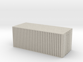 28mm simple cargo container hollow in Natural Sandstone