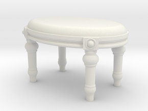 1:24 Ottoman in White Strong & Flexible