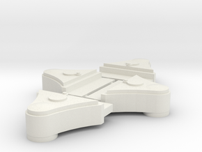 16mm Scale Ffestiniog Axleboxes in White Natural Versatile Plastic