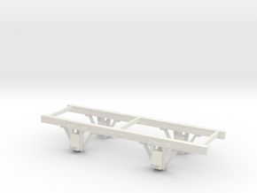 Sn2(9mm gauge) 6ft w/b Braced Pedestal  chassis  in White Natural Versatile Plastic