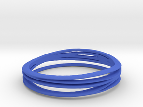 7-error-ring in Blue Strong & Flexible Polished