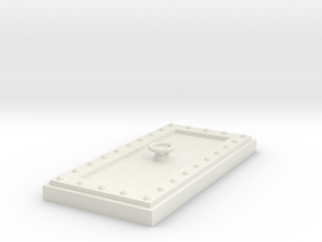 Heavy Reinforced Door 28mm scale in White Natural Versatile Plastic