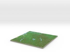 Terrafab generated model Tue Jan 21 2014 23:02:41  in Full Color Sandstone