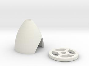 UMX 180 Spinner in White Natural Versatile Plastic