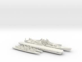 1/2400 Scale Never Were IJN Fleet in White Natural Versatile Plastic