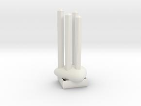The Rock Multi Ring Holder in White Natural Versatile Plastic