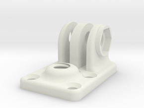 Tripod foot for GoPro in White Natural Versatile Plastic