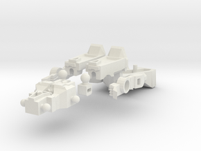 G2P-005a - Chromehead  in White Natural Versatile Plastic