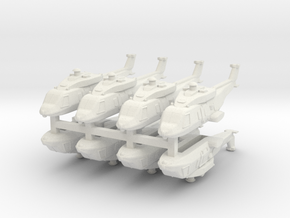 Eurocopter NH90 1:600 x8 (WSF) in White Natural Versatile Plastic