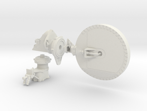 Mars Rover HGA Dish 1:4 Scale in White Strong & Flexible