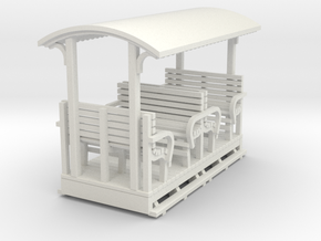 Sn2 Open crossbench coach  in White Natural Versatile Plastic