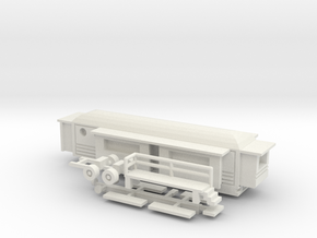 Wohnwagen rundes Dach  1:160 (n scale) - Ver. 2 in White Strong & Flexible