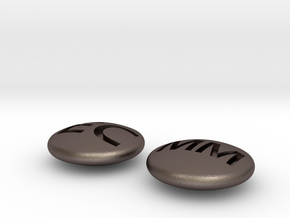 Stones for ec mm in Polished Bronzed Silver Steel