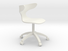 1:24 Curved Bentwood ArmChair (Not Full Size) in White Natural Versatile Plastic