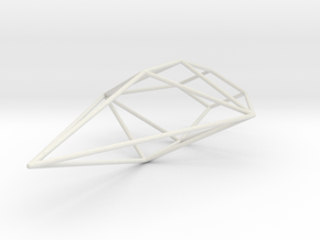 Python Wireframe 1-300 in White Natural Versatile Plastic