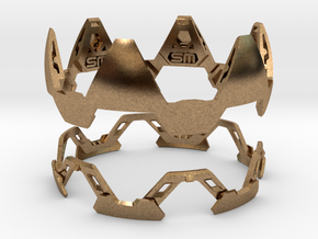 Mystery Puzzle Bracelet in Natural Brass