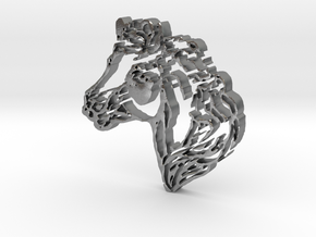 Horse Head in Natural Silver