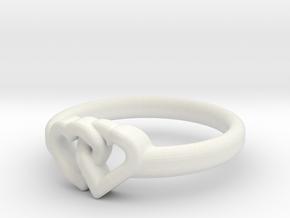 Entangled Love Small Sz19 in White Natural Versatile Plastic