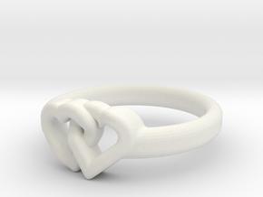 Entangled Love Small Sz17 in White Natural Versatile Plastic