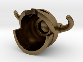 Iron Helmet in Natural Bronze
