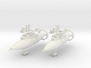 Hillar Class Destroyer in White Natural Versatile Plastic