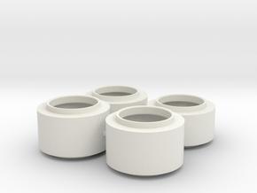 F1 Wheels V1 in White Strong & Flexible