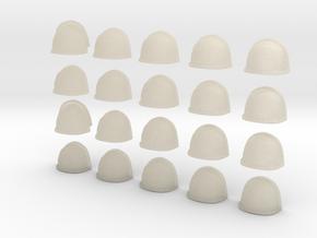 20 Heroic/TrueScale Custom Shoulder Pad Plain  in White Acrylic