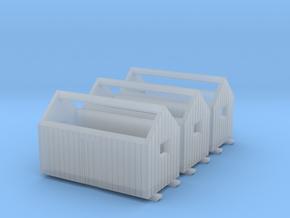 Z logging - Bunkhouses (3pcs) in Smooth Fine Detail Plastic