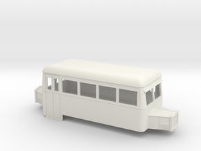 Sn2 double-ended railbus  in White Natural Versatile Plastic