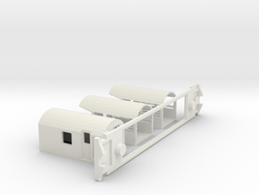 AG Trans Alpine Viewing, NZ, (S Scale, 1:64) in White Natural Versatile Plastic