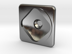 cp01 Square Stud 20111115 in Polished Silver