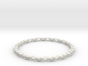bike chain necklace in White Strong & Flexible