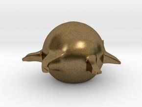 Fat Animals - Crocodile 1.0 (Small) in Natural Bronze