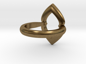 Ring-L in Natural Bronze