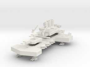 Jarv Class Battleship in White Natural Versatile Plastic