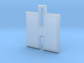 ABC Pendant - H Type - Solid - 24x24x3 mm in Smooth Fine Detail Plastic