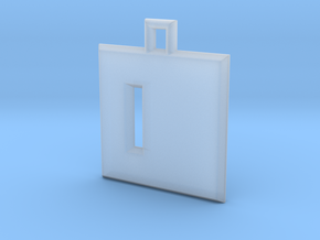 ABC Pendant - D Type - Solid - 24x24x3 mm in Smooth Fine Detail Plastic