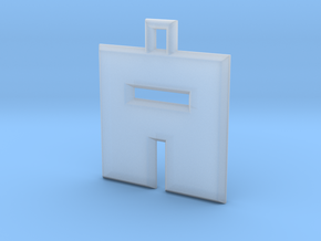 ABC Pendant - A Type - Solid - 24x24x3 mm in Smooth Fine Detail Plastic